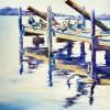 Pelicans Watercolor Painting Florida