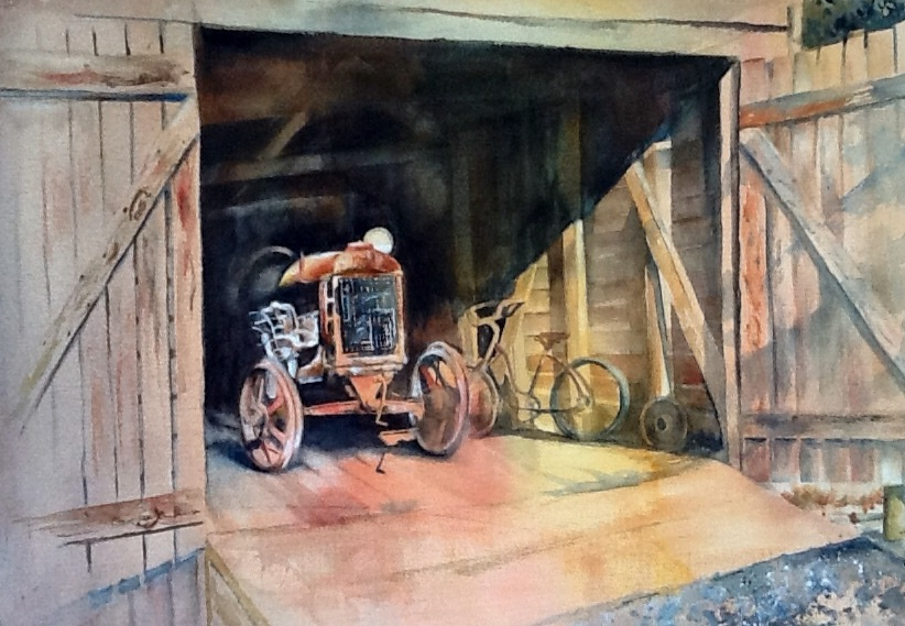 Open Barn Door open the barn door - watercolorsmarian