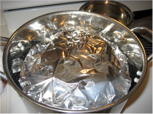plate in pot