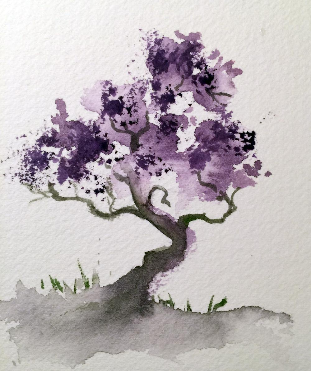 Watercolor Bonsai Tree Watercolors By Marian